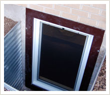no exterior trim window frame